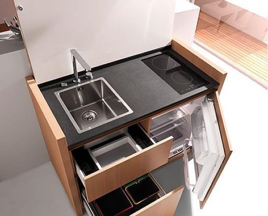 platzsparende Küche Idee mit k1-mini-küche von kitchoo - fresHouse