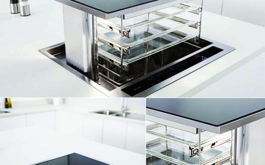 platzsparende idee f r k chen mit ausziehbarem ofen c5100 lift oven freshouse. Black Bedroom Furniture Sets. Home Design Ideas
