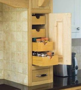 platzsparende ideen küche