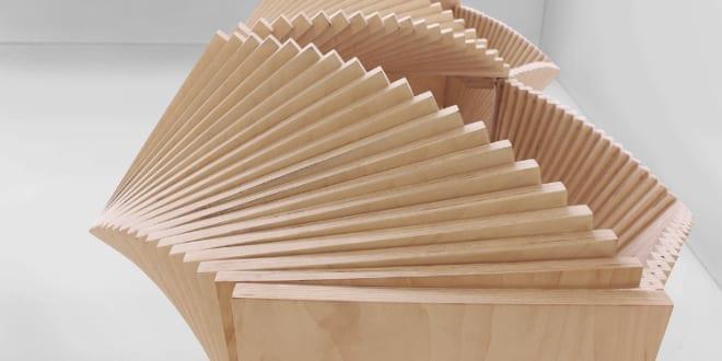 Spektakuläre Sideboard-Skulptur aus Holz