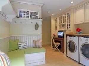 waschküche einrichtungsidee mit sitzecke