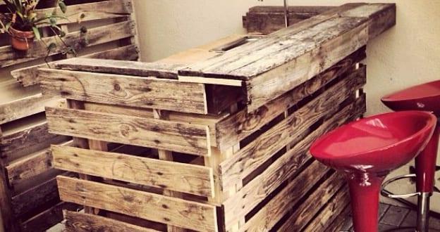 theke aus paletten bauen freshouse. Black Bedroom Furniture Sets. Home Design Ideas