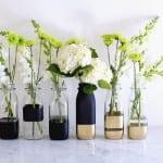 coole streichen ideen für DIY Glasvasen als bastelidee mit sprayfarben