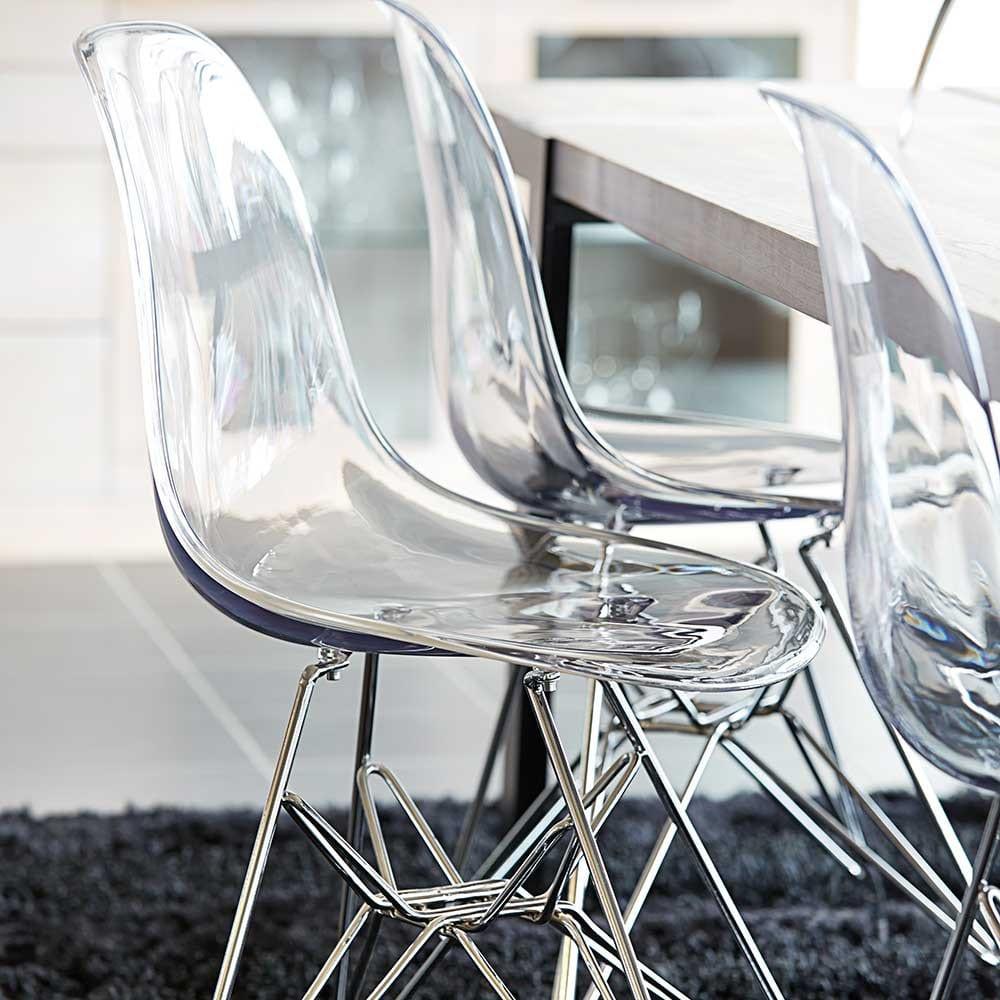 Esszimmerst hle aus acrylglas f r moderne for Minimalistische wohnungseinrichtung