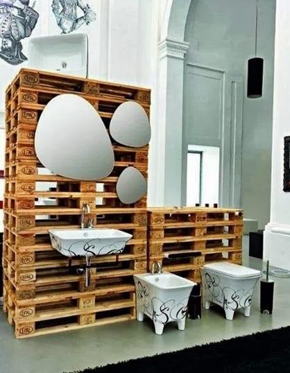 Europaletten Bauen Coole Badezimmer Einrichtung Und Moebel Aus