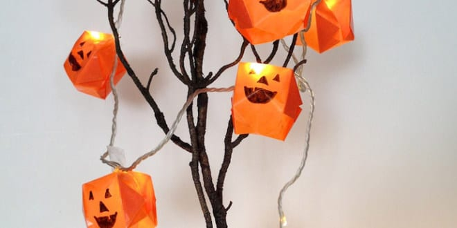 Halleen deko idee mit diy origami geistern freshouse for Origami zimmer deko