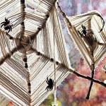 DIY Spinngewebe als Idee für Halloween Deko zum selber machen