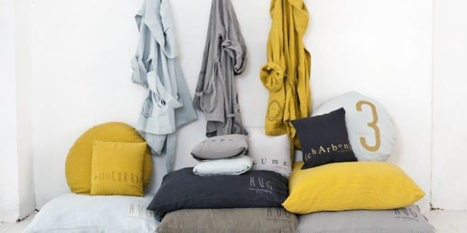Schlafzimmer gemütlich gestalten mit Bettwäsche aus Jersey und Leinen