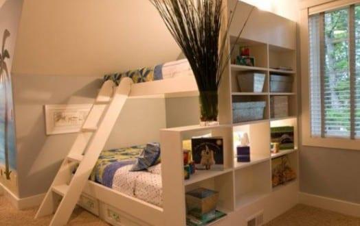 kleines kinderzimmer einrichten mit etagenbett als ...