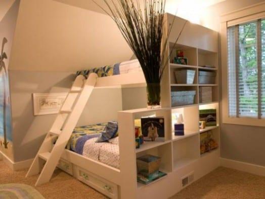 Kleines Kinderzimmer Einrichten Mit Etagenbett Als Platzsparende  Kiderzimmerideen