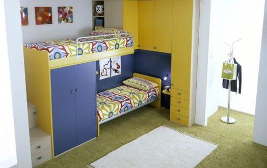 kleines kinderzimmer einrichten mit etagenbett von linead. Black Bedroom Furniture Sets. Home Design Ideas