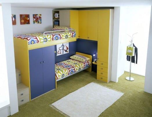 kleines kinderzimmer einrichten mit etagenbett von linead freshouse. Black Bedroom Furniture Sets. Home Design Ideas