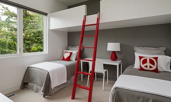 Kleines Kinderzimmer mit Hoch- oder Etagenbett einrichten