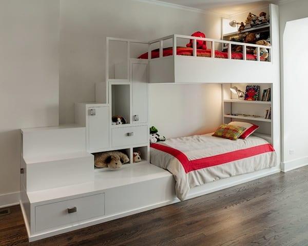 Kleines Kinderzimmer Modern Einrichten Mit Etagenbett_ SPACE Architects +  Planners