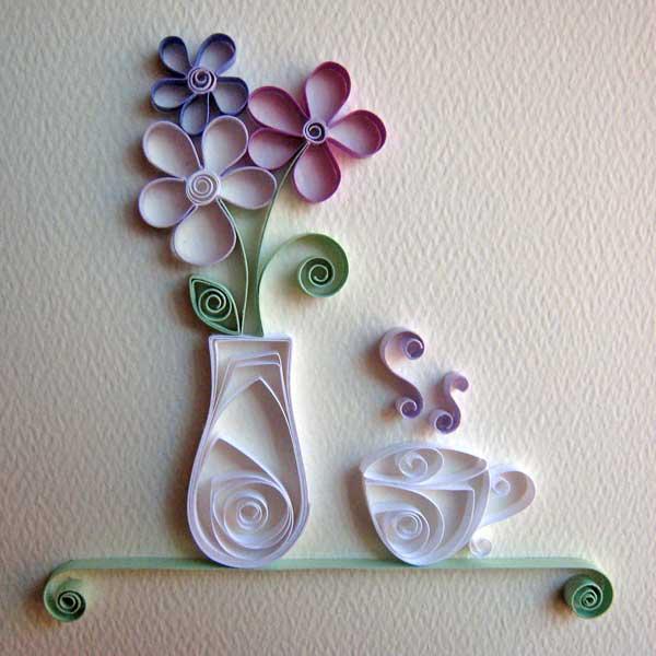 Wanddeko küche selber machen  kreative wandgestaltung mit deko aus papier und wanddekoration ...