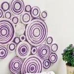 wohnzimmer wandgestaltung und basteln papier idee für diy wanddekoration aus zeitungspapier
