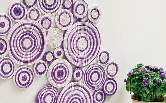 kreative wandgestaltung mit deko aus papier freshouse. Black Bedroom Furniture Sets. Home Design Ideas