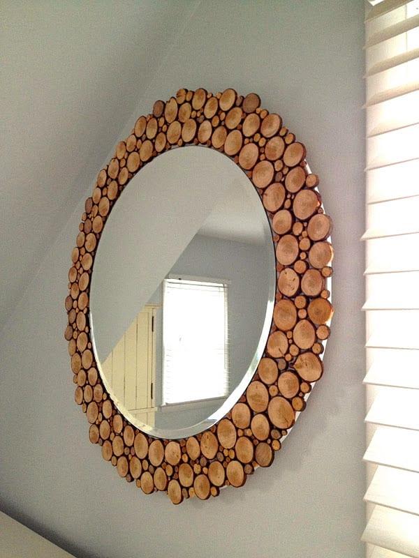 moderne designer spiegel mit rahmen als moderne wandgestaltung mit ...