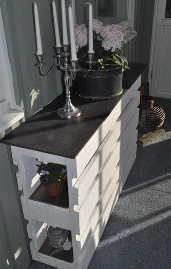 Moebel aus paletten bauen diy sideboard weiss freshouse - Mobel aus paletten bauen ...