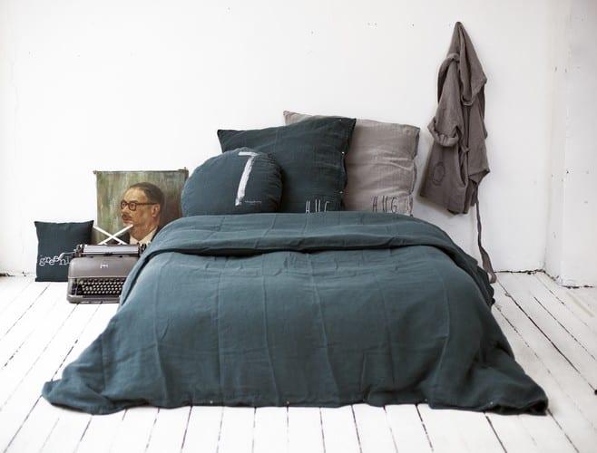 Schlafzimmer Gestalten Ideen Mit Bettwäsche Schwarz Freshouse