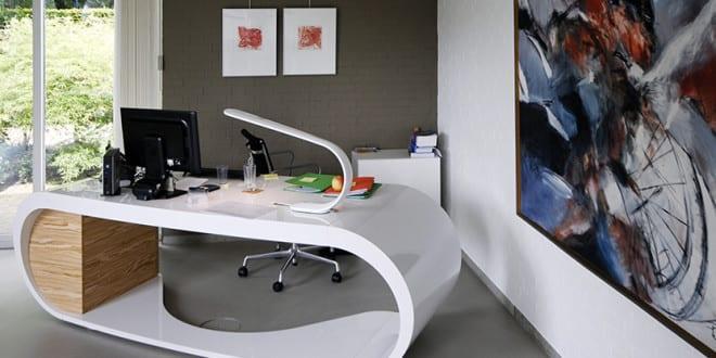 Moderne büromöbel weiss  schreibtisch weiß mit modernem design schreibtisch vom büromöbel ...