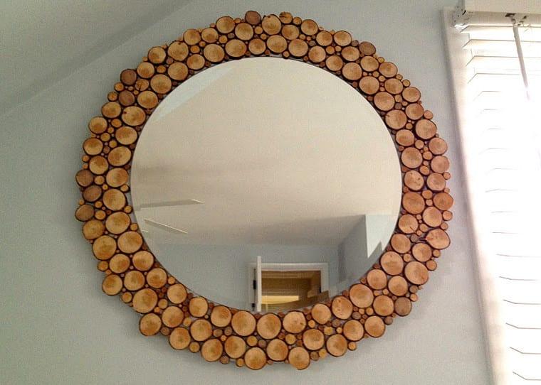 wandgestaltung mit designer spiegel mit holzrahmen freshouse. Black Bedroom Furniture Sets. Home Design Ideas
