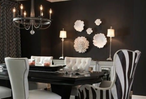 dekoideen wohnzimmer schwarzwei und moderne wandgestaltung wohnzimmer mit wei en blumen aus. Black Bedroom Furniture Sets. Home Design Ideas