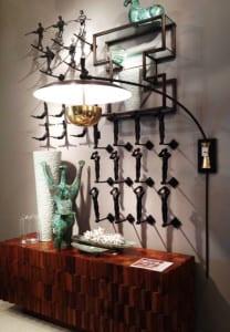 dekoideen wohnzimmer und moderne wandgestaltung mit wandregal und 3d wanddeko aus metall freshouse. Black Bedroom Furniture Sets. Home Design Ideas