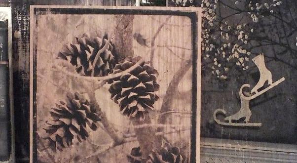Foto Auf Holz Als Kreative Weihnachtsdeko Idee Zum Selber