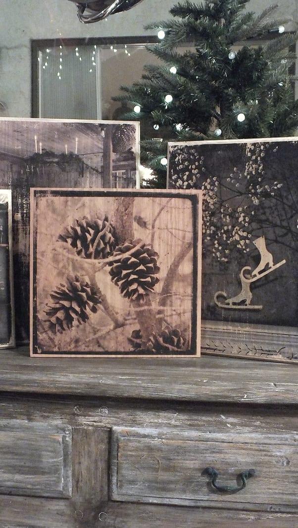 foto auf holz als kreative weihnachtsdeko idee zum selber machen freshouse. Black Bedroom Furniture Sets. Home Design Ideas
