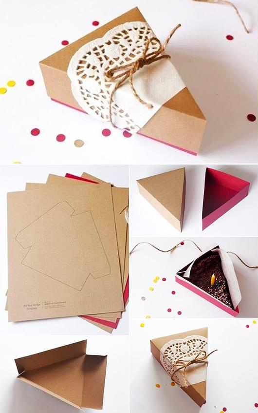 geschenkverpackung basteln als faltkarton f r ein tortenst ck freshouse. Black Bedroom Furniture Sets. Home Design Ideas