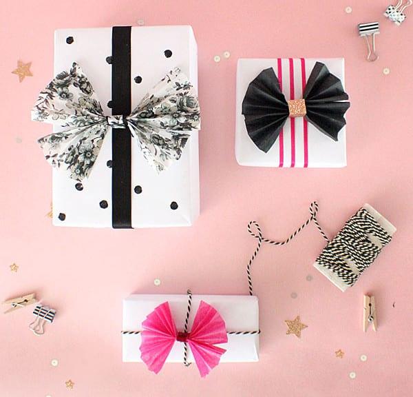 geschenkverpackung basteln mit fliege aus papier freshouse. Black Bedroom Furniture Sets. Home Design Ideas