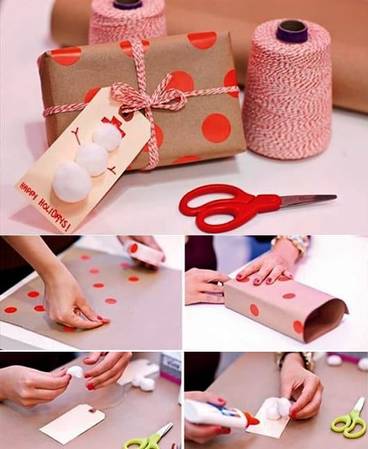 Geschenkverpackung Basteln Schnell Und Einfach Mit Klebepunkten