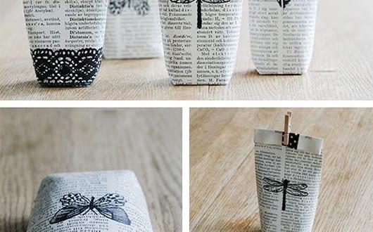 geschenkverpackung basteln und aus b cherseiten selber machen freshouse. Black Bedroom Furniture Sets. Home Design Ideas