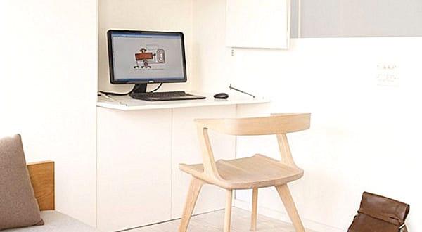 versteckter arbeitsplatz im schlafzimmer m bel f r kleine. Black Bedroom Furniture Sets. Home Design Ideas