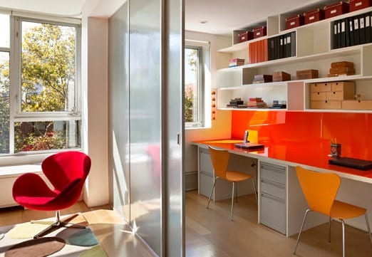 Home office ideen und moderne einrichtung mit büromöbel in weiss