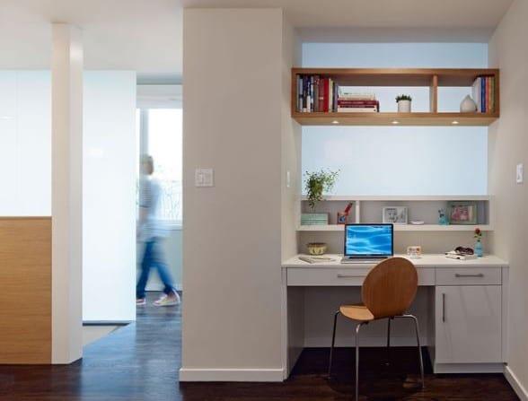 home office modern einrichten in wandnische freshouse. Black Bedroom Furniture Sets. Home Design Ideas