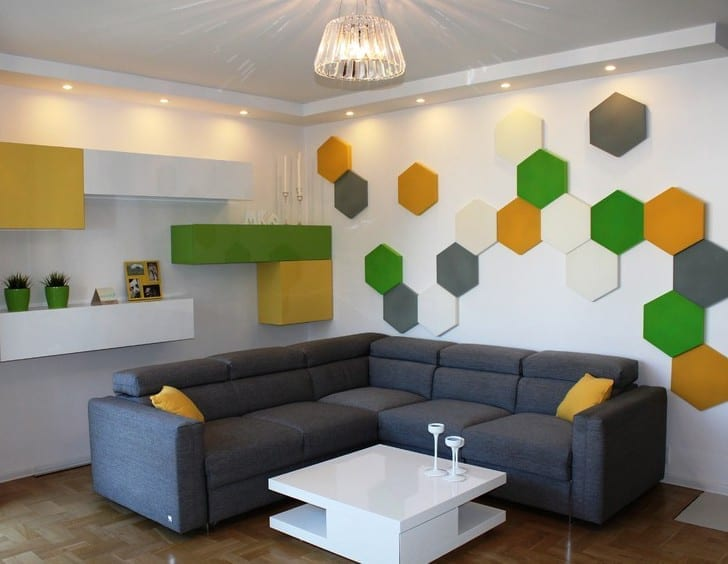 kleines wohnzimmer wohnidee f252r moderne wandgestaltung und