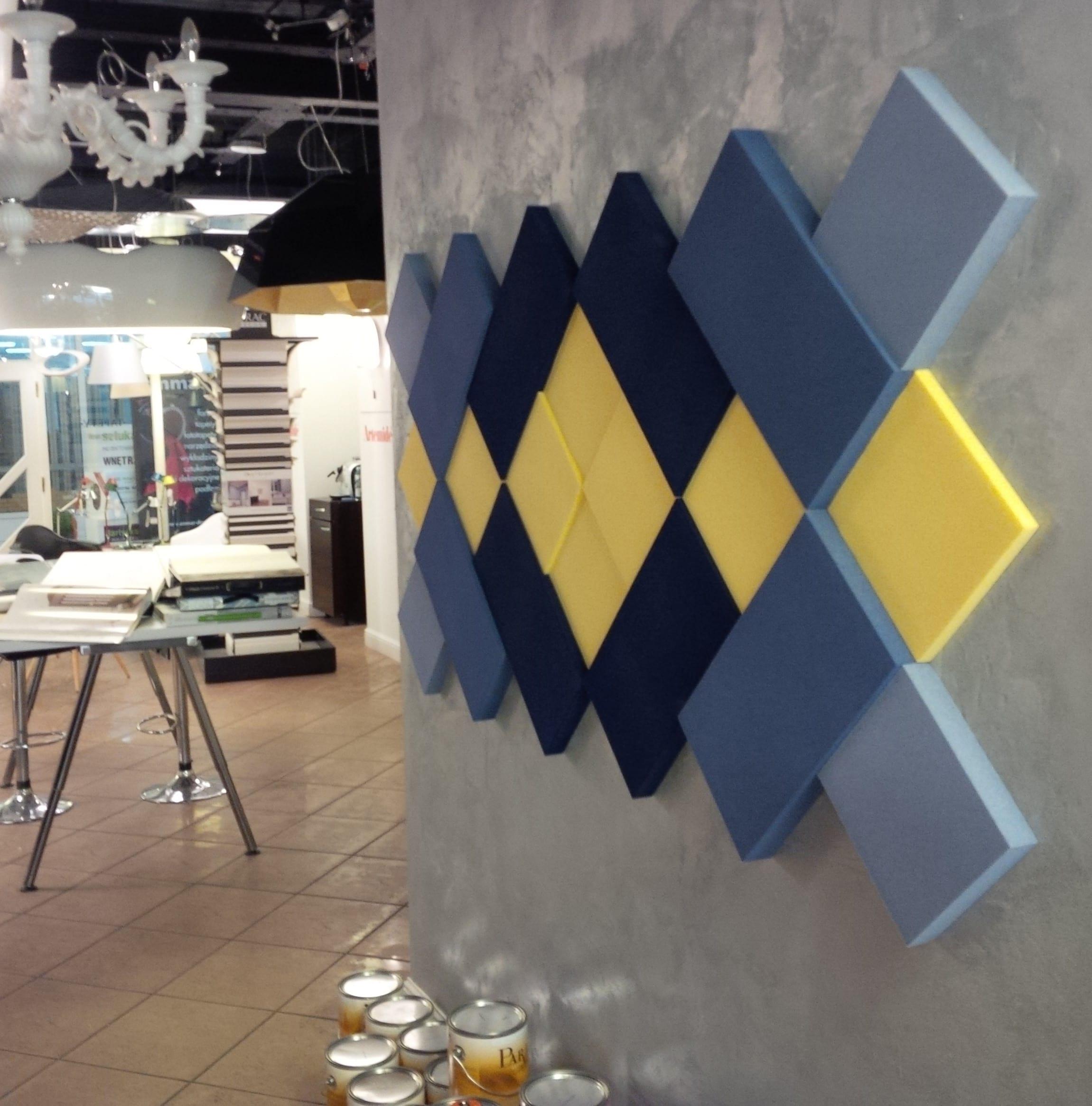 Wohnideen Wände Gestalten kreative wohnideen für moderne wandgestaltung mit blauen 3d paneelen