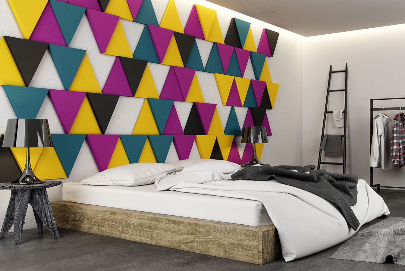 Kreative Wohnideen Schlafzimmer Und Coole Farbgestaltung Mit 3d Paneelen