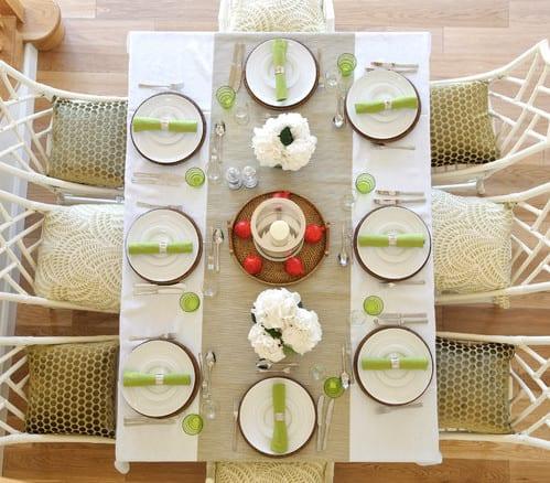 Tisch decken ideen mit sackleinen tischl ufer freshouse for Decken ideen