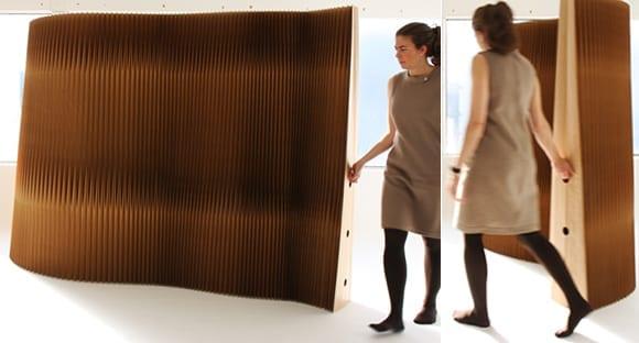 trennw nde aus kraftpapier als coole raumteiler ideen f r modernes interior freshouse. Black Bedroom Furniture Sets. Home Design Ideas