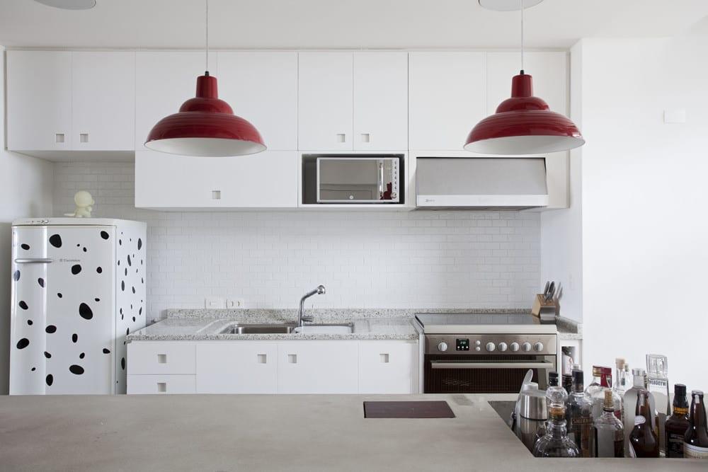 Weiße Küche Moder Einrichten Für Eine Loft Wohnung