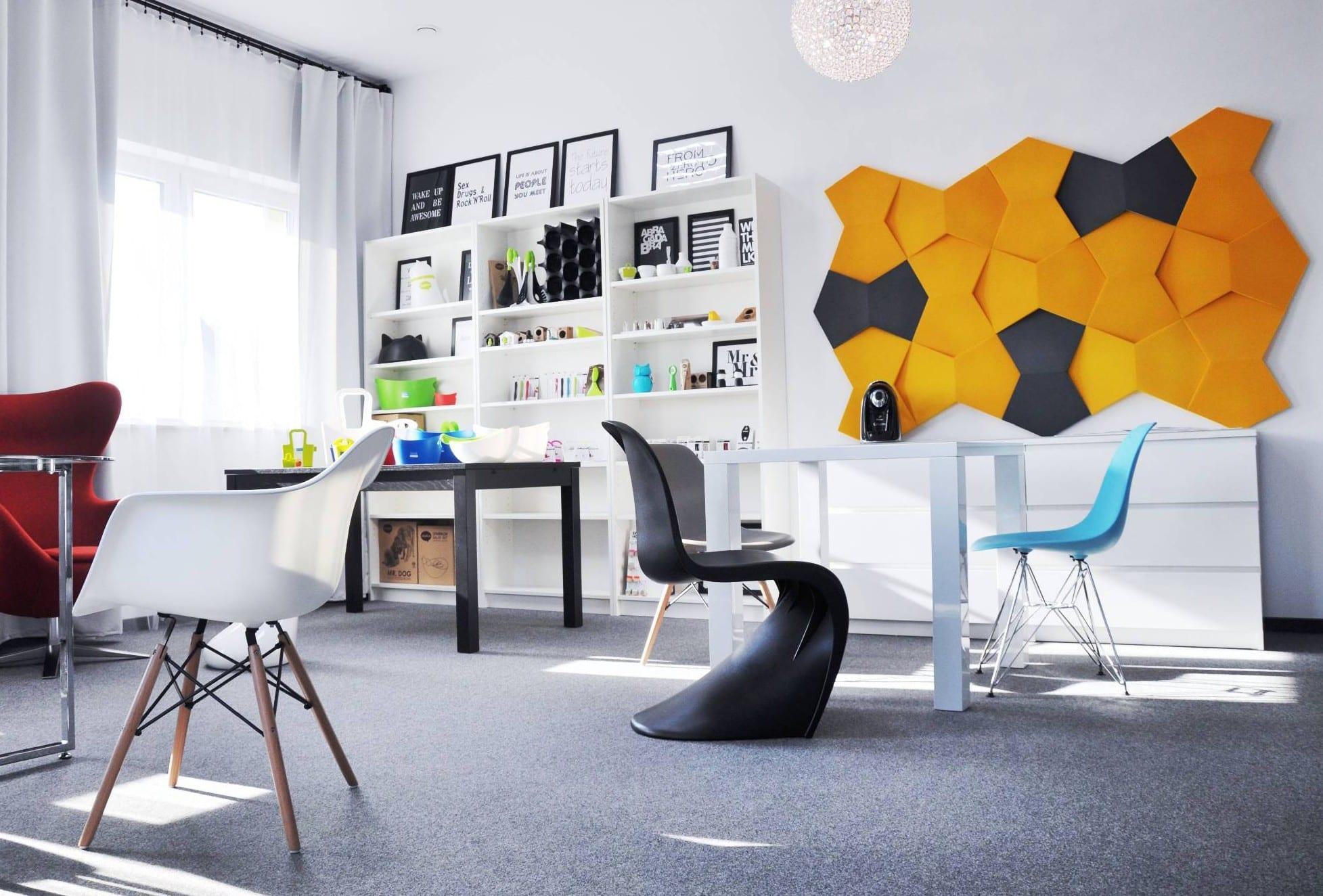 Wohnidee f r moderne wandgestaltung und farbgestaltung wohnzimmer und home office freshouse - Moderne wandgestaltung ...