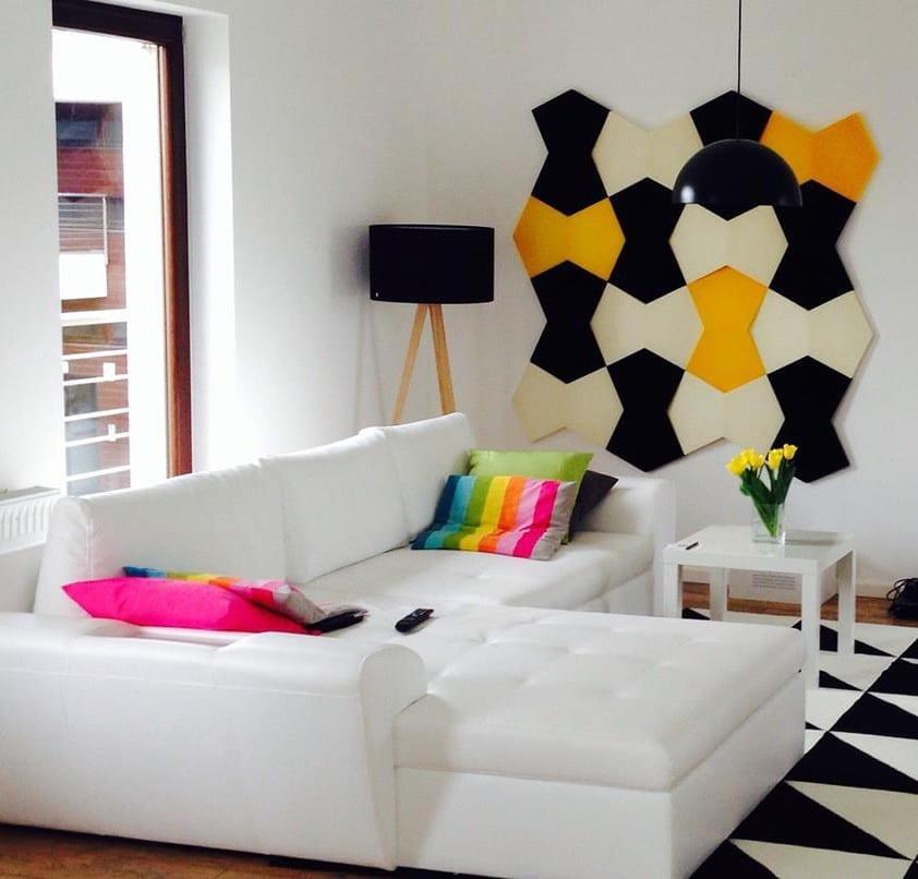 Wohnzimmer Design In Schwarzweiß Und Kreative Wohnideen Für Moderne Wandgestaltung  Wohnzimmer Mit 3d Paneelen
