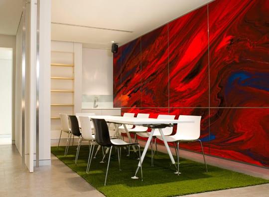 Wandgestaltung Ideen für moderne Wandgestaltung mit Farbe im ...