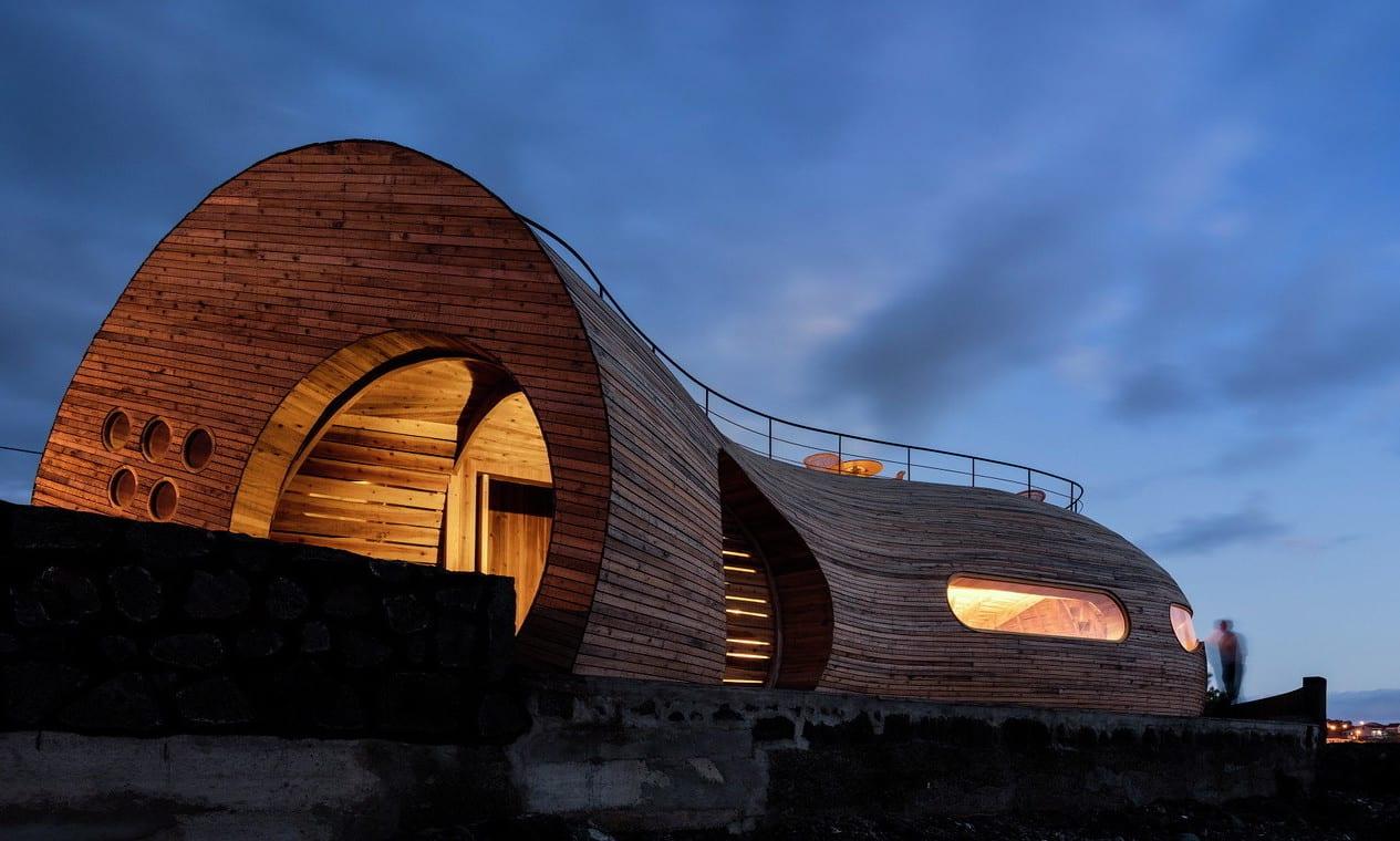 Bauen Mit Holz Als Idee Fur Moderne Architektur Runden Formen