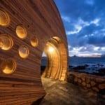 restaurant bar CELLA als moderne Holzbau-erweiterung