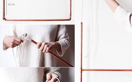 coole bastelidee f r h ngende kleiderst nder aus kupferr hren freshouse. Black Bedroom Furniture Sets. Home Design Ideas