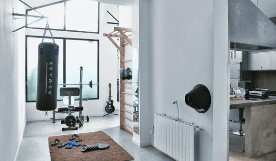 coole ideen f r fitnessstudio und fitnessraum zu hause. Black Bedroom Furniture Sets. Home Design Ideas